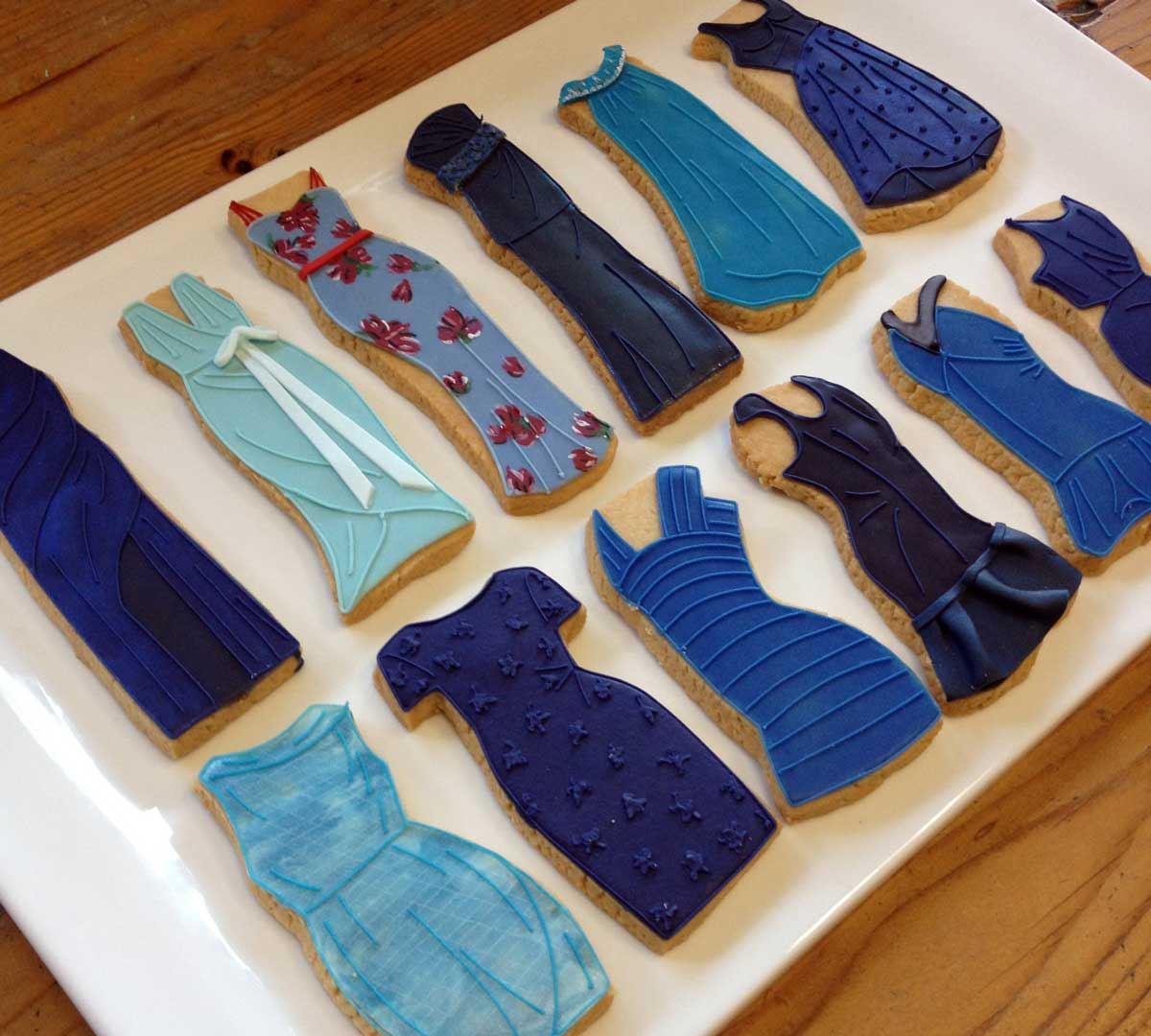 Casue Blue Dress Cookies
