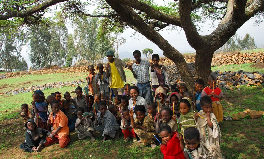 Hannah Godefa in Ethiopia