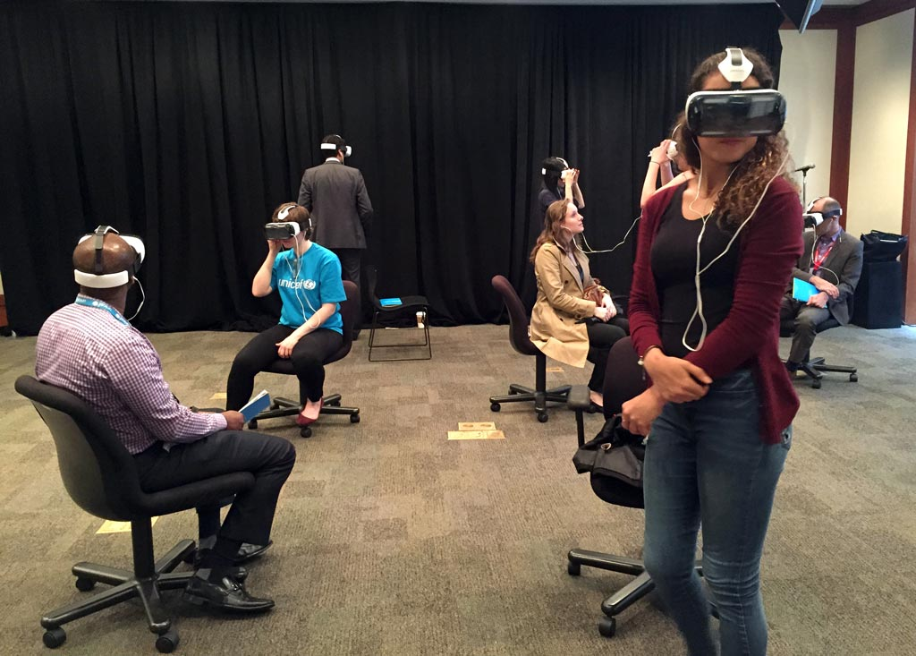 People wearing virtual reality headsets - Global Innovation Fund