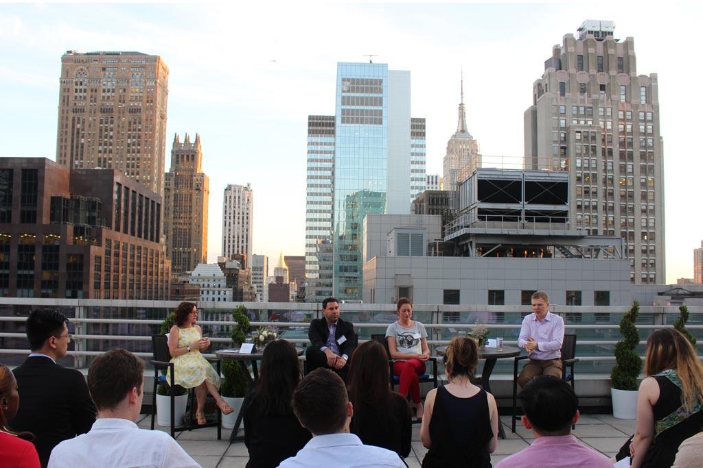 City Internships Industry Panelists on Rooftop in Midtown, Manhattan