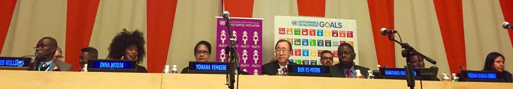 #EndFGM Panel with UNSG Ban Ki-Moon