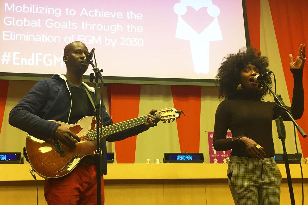 Inna Modja preforms at #EndFGM