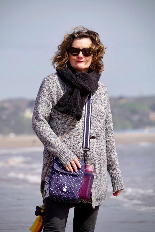 Julie-Ann Marshall on a Devon beach
