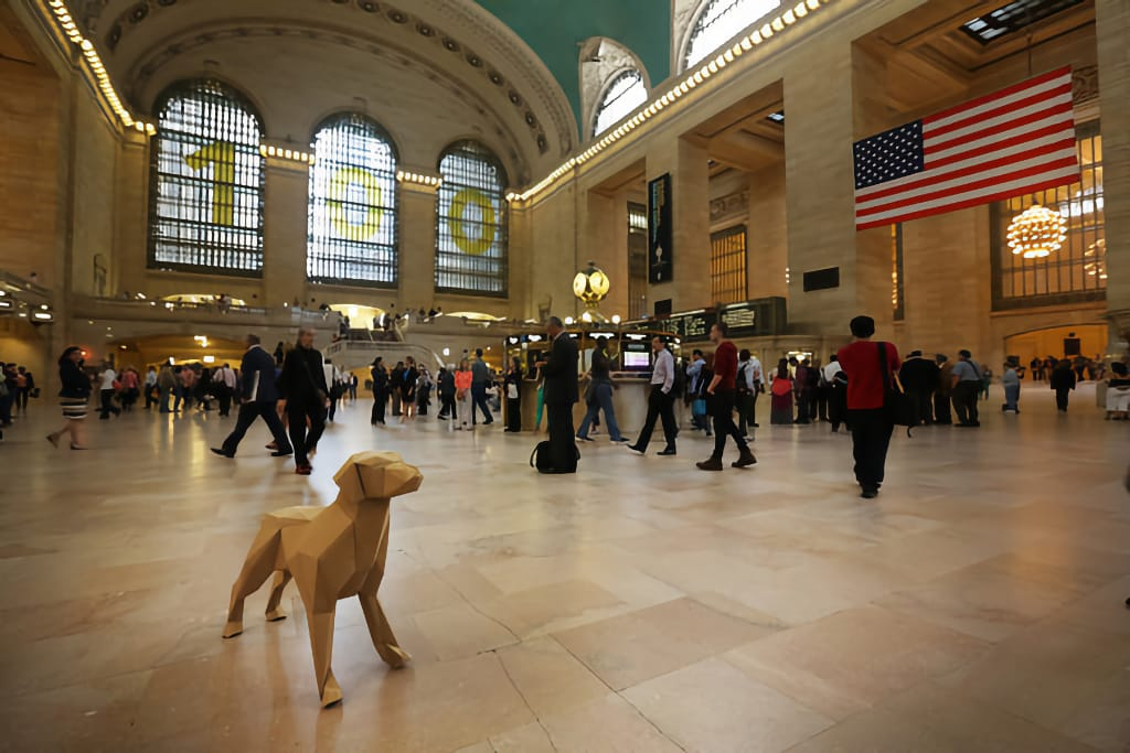 Gerald at Grand Central Station New York