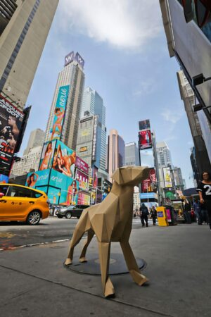 Gerald in Times Square New York City